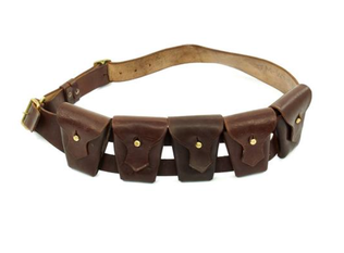 WWI WWII Leather Cavalry Bandolier